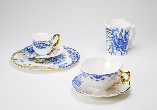 ctrlzak - Hybrid, inspired by the CeramiX Art project, series of porcelain tableware with a cross-fertilization between Western and Eastern aesthetics, designed by CTRLZAK and produced by Seletti