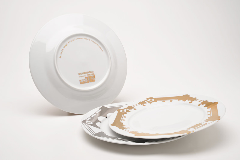 ctrlzak - Monumentale, collection of tableware inspired by the Italian architectural heritage, by CTRLZAK