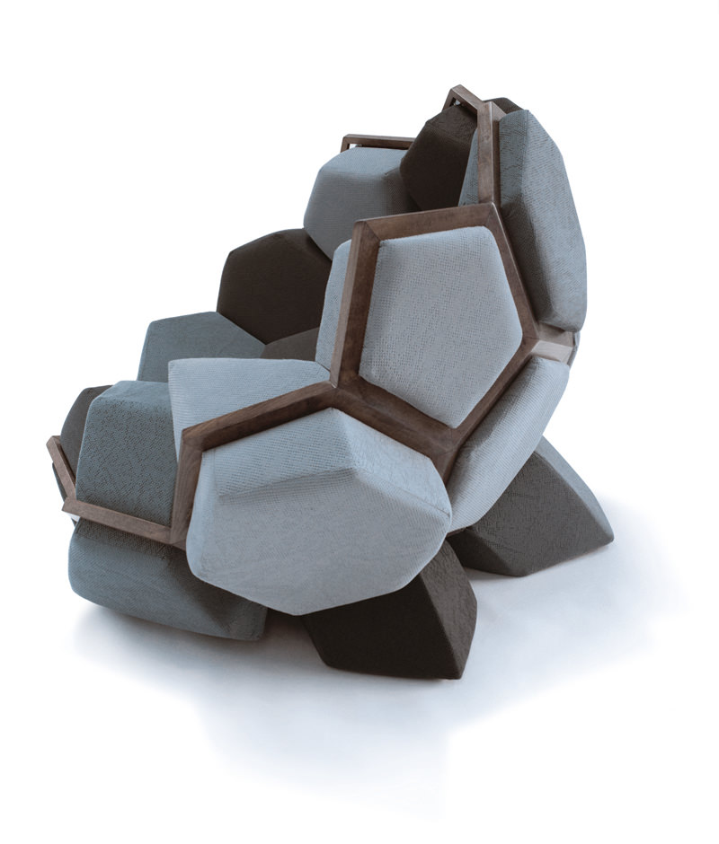 ctrlzak - Quartz, armchair inspired by the perfect geometry of nature, designed by CTRLZAK and produced by D3CO