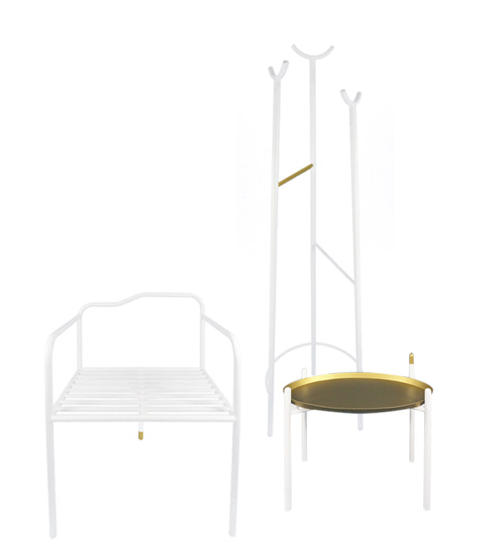 ctrlzak - Tê /'tæ/, collection of iron furniture inspired by Chinese tea culture, by CTRLZAK