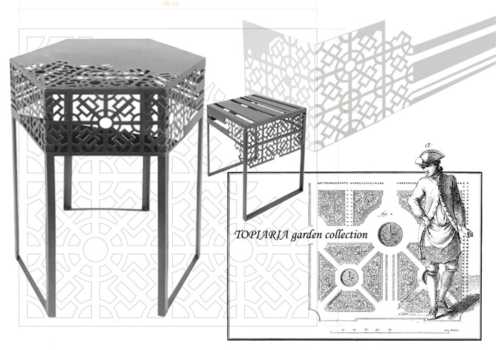 ctrlzak - Topiaria, collection of garden furniture inspired by Italian Renaissance garden landscape design, by CTRLZAK